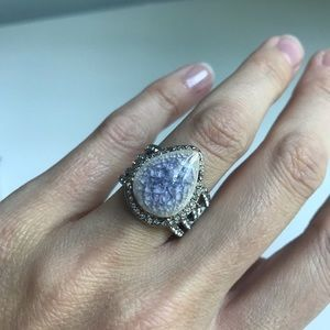 NWT Misty Morning Statement Ring 💜